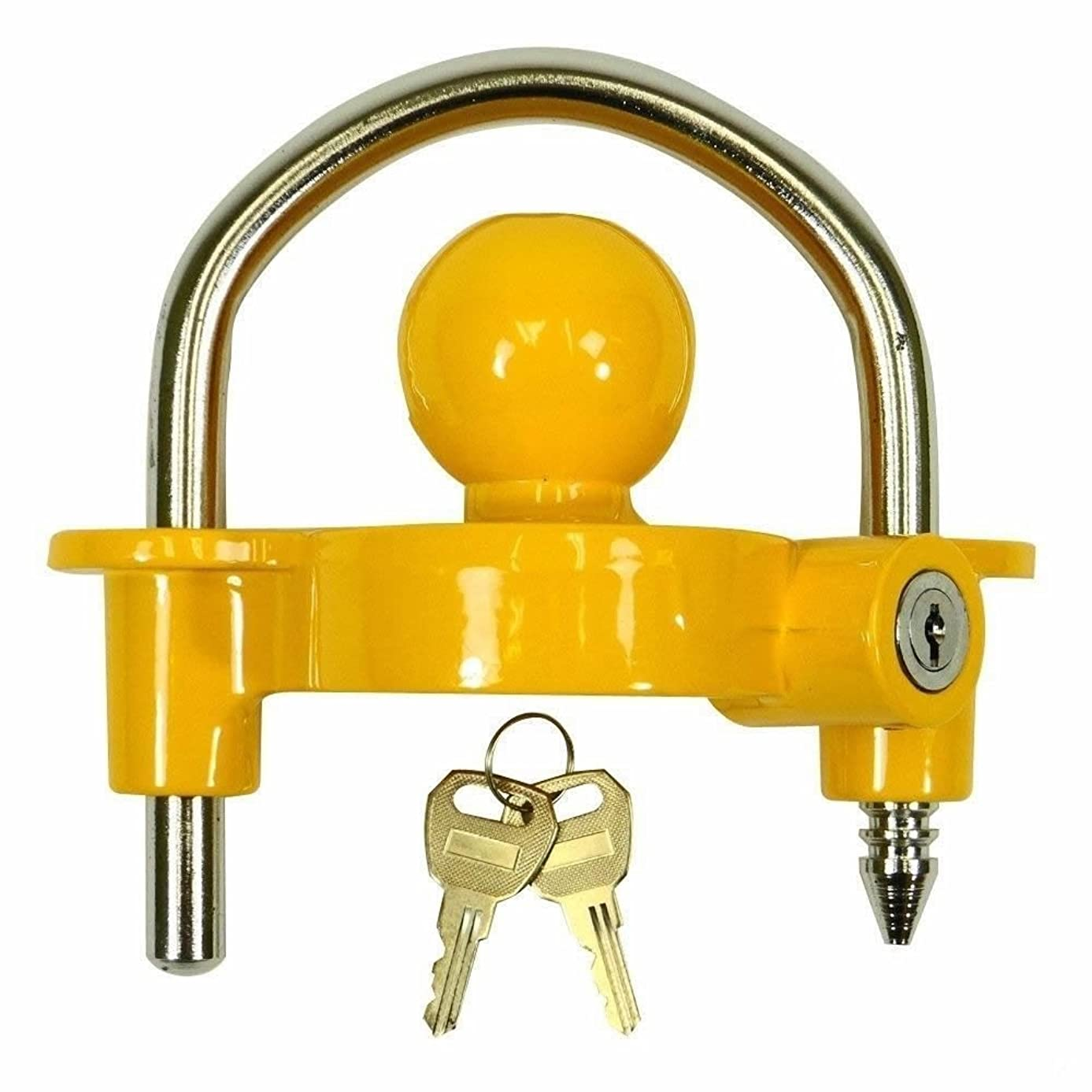 Universal Trailer Hitch Ball Coupler Lock Out Trailor Tongue Tounge Lockout