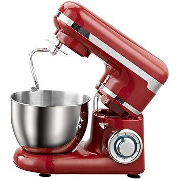YXXJ Batidora Amasadora, Amasadora de Repostería Profesional Robot de Cocina Automática Multifuncional, 6 Velocidades Amasadoras de Pan 4 litros: Amazon.es