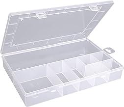 hünersdorff Caja organizadora: caja clasificadora estable (PP-ECO) con división fija (8 compartimentos), caja de clasifica...