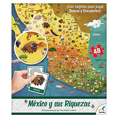 Novelty Corp Rompecabezas Piso Republica Mexicana