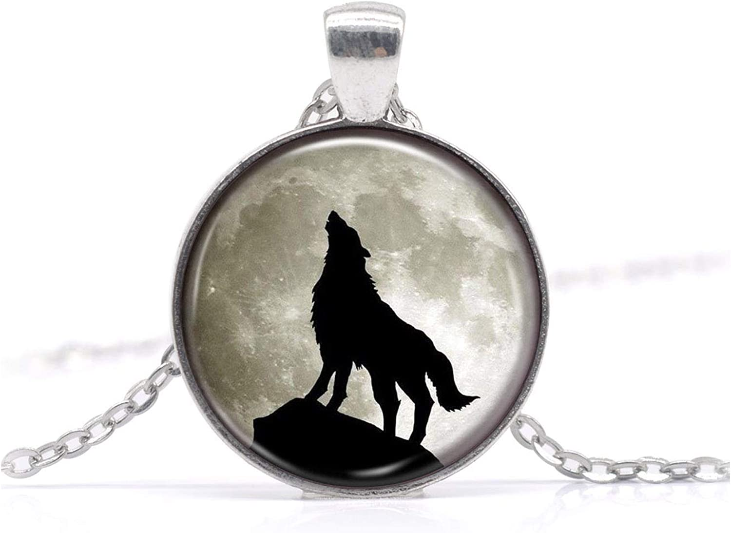 Crescent Wolf Necklace Dire Wolf Howl Charm Collections Inspired Pendant Personalized Jewelry Child Gift