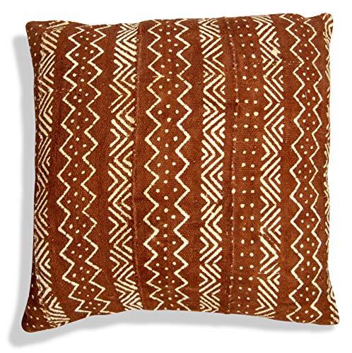 Pufs & Pillows funda de cojín pueblo bereber Rectángulo–hecho a mano–Almohada (lana y algodón 65x 40cm