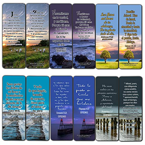 Spanish Powerful Bible Verses to Live by Bookmarks (RVR1960) (30-Pack) - Great Spanish Bible Text Compilation That is Handy and Easy to Bring Along with