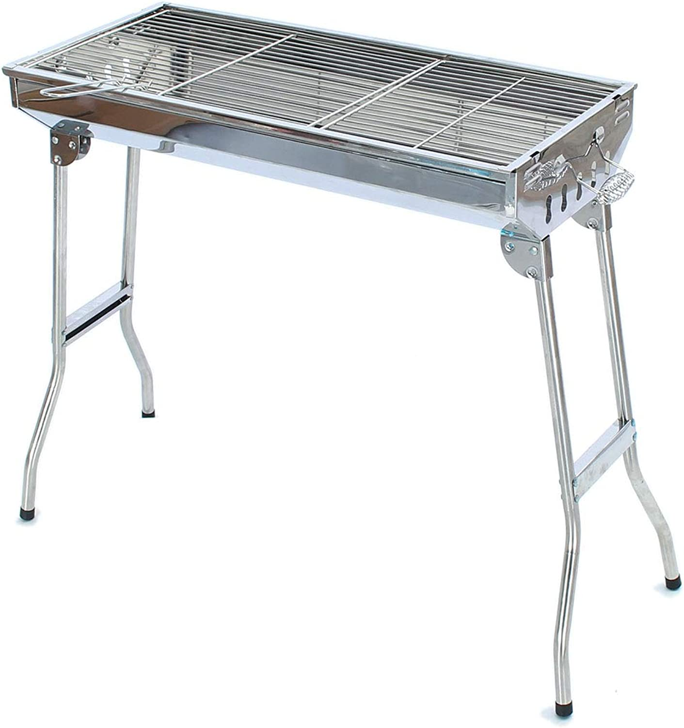 ILUVBBQ Faltbare BBQ Grill Barbecue Holzkohleherd Herd Edelstahl Tragbare Party im freien Party Picknick Camping Grill