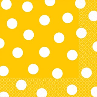 """Yellow Sunshine Dots Luncheon Napkins Value Pack 