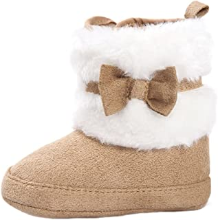Baby Girl Plush Winter Snow Bowknot Boots