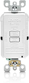 Leviton AFRBF-W 20-Amp 120-volt SmartlockPro Outlet Branch Circuit Arc Fault Circuit Interrupter Blank Face Receptacle, White