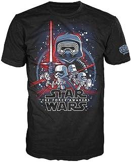 Camiseta Star Wars Force Awakens Pop! Tees! color negro