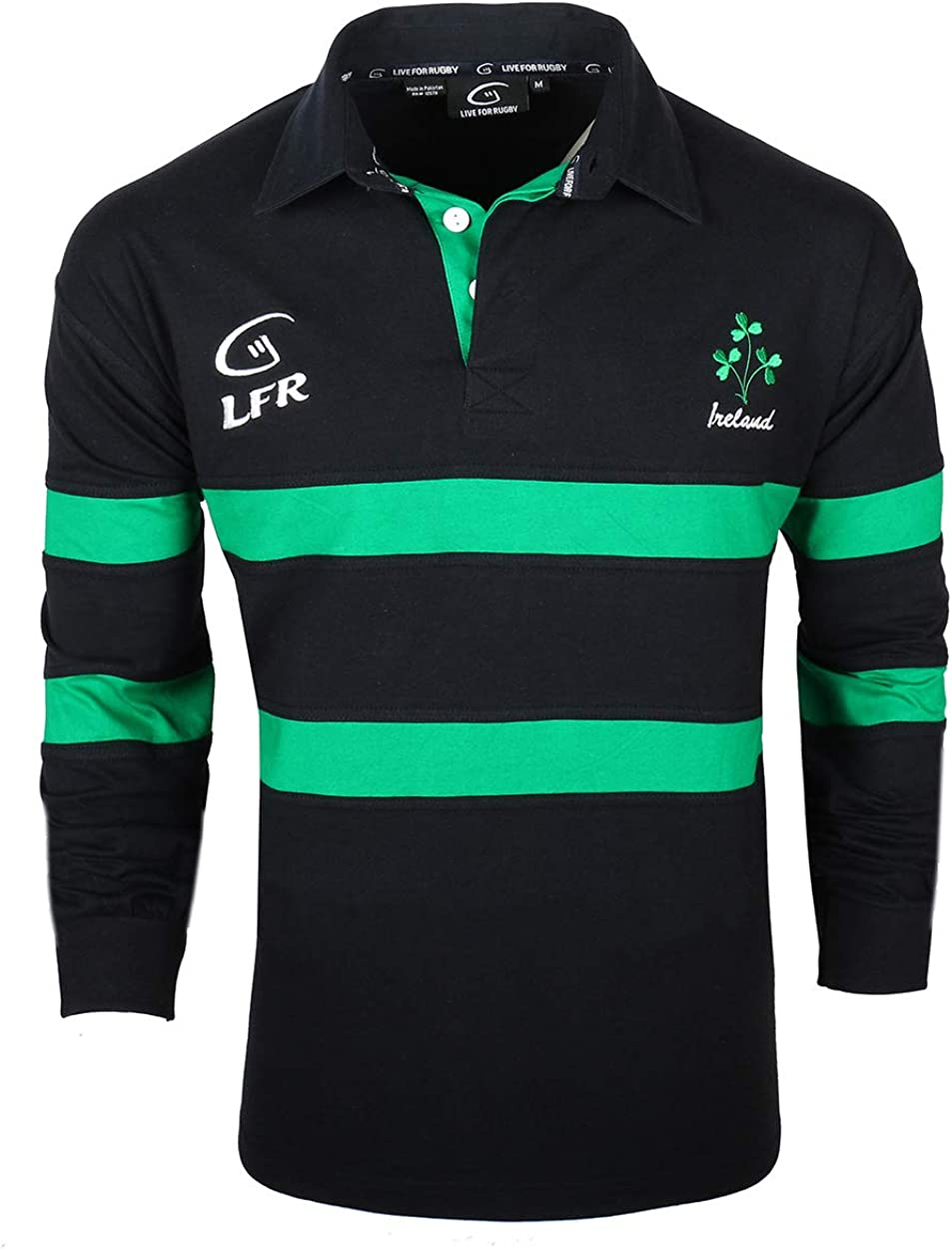 Irish Rugby Shirt for Men Ranking TOP9 Credence Blue Shamrock Crest Embroidered