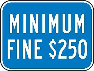 Accuform FRA275RA Engineer-Grade Reflective Aluminum Handicapped Parking Supplemental Sign (California), Legend