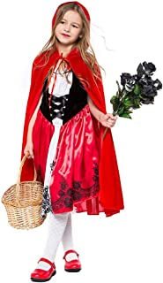 Deluxe Little Red Riding Hood Halloween Costume for Girls Cosplay Dress