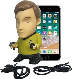Star Trek Vinyl Action Figure   Captain Kirk Bluetooth Speaker with Microphone - Plays Music & Speaks 9 TOS Phrases voiced by William Shatner - Unique Collectibles, Memorabilia for Star Trek Fans