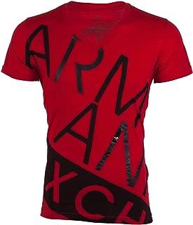 Armani Exchange BIAS Mens T-Shirt Premium Slim Fit RED Black Casual Designer