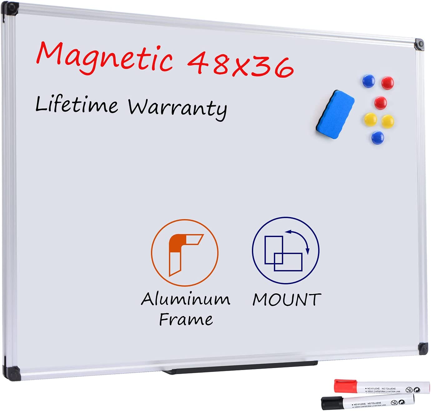 Board2by Magnetic Selling rankings Dry Erase Whiteboard 48 x 3 - Inches 36 La 4 trust