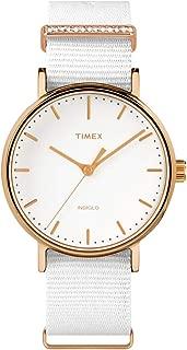 Timex Womens Analogue Quartz Watch Fairfield Women'S Crystal