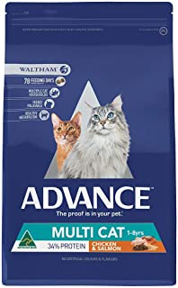 Advance Multi Cat, Chicken & Salmon, Adult and Senior, 3kg Cat Dry Food