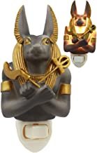 Ebros Ancient Egyptian Gods and Rulers Decorative LED Wall Plug in Night Light with On/Off Switch Classical Gods of Egypt Legend of The Nile Kingdom (Anubis God of Mummification)