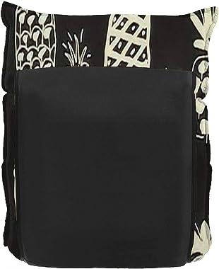 Floor Lounger Adjustable Floor Chair Summer Doodle Hand Drawn Vintage Pineapples Pattern on Black Memory Foam Folding Floor S