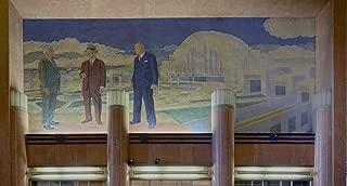 Photograph- One of four large but intricate mosaic-tile murals inside the Cincinnati Museum Center at Union Terminal, built in 1933 as Cincinnati Union Terminal 2 Fine Art Photo 66in x 44in