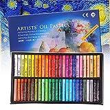 Set de pasteles al óleo para artes, 50 colores de lápices suaves para grafitis profesionales hechos a mano, pasteles al óleo no tóxicos para niños, estudiantes y pintores principiantes