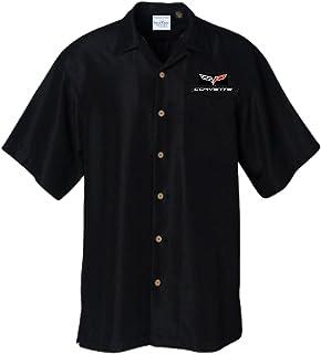 David Carey Originals C6 Corvette Club – Solid Black – Button up Collared Short Sleeve Mechanic Shirt