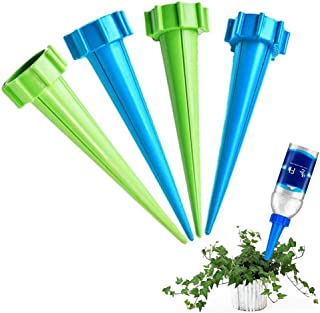 Plant Waterer Self Watering Spikes System 4 PCS Automatic Vacation Drip BottleDrip Irrigation Watering Devices Sprinkler
