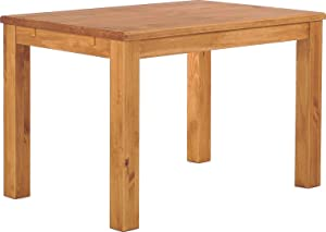 TableChamp Dining Room Table Rio 47 x 30 Honey Solid Wood Pine Oiled Extension Extendable