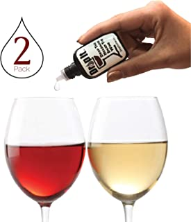 Drop It Wine Drops, 2 Pack – Natural Wine Sulfite Remover and Wine Tannin Remover – Enjoy Wine Again, Works in Just 20 Seconds – Portable and Discrete – A Wine Filter or Wand Alternative