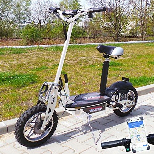 Viron Elektro Scooter 1000 Watt E-Scooter Roller 36V / 1000W Elektroroller V.7 (weiß)
