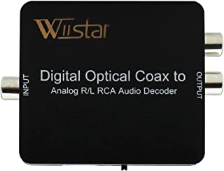 Optical SPDIF Toslink/Coaxial Digital to Analog Audio Decoder Converter with PCM, 5.1 Dolby Digital & DTS Support