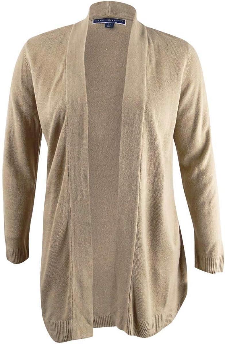 Karen Scott Women's Plus Size Open-Front Cardigan