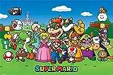 Nintendo Super Mario Poster Charaktere (91,5cm x 61cm) + 2
