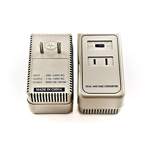 Simran 1875 Watts Travel Voltage Converter for Using 110V /120V USA Products in AC 220V