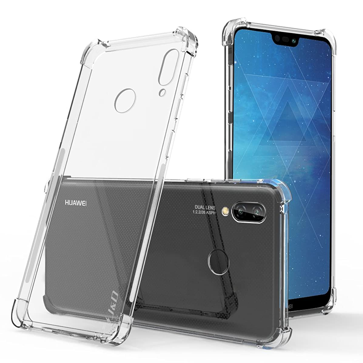 J&D Case Compatible for Huawei P20 Lite Case, [Corner Cushion] [Ultra-Clear] Shock Resistant Protective Slim TPU Bumper Case for Huawei P20 Lite Bumper Case - [NOT for Huawei P20 and Huawei P20 Pro]