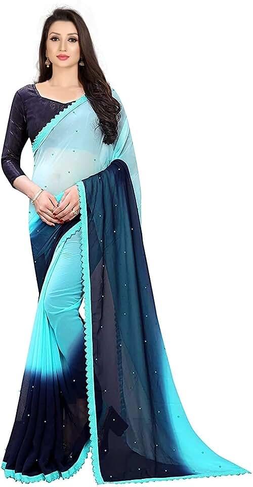 Indian Mp Enterprise Womens Saree With UnStiched Blouse piece Saree