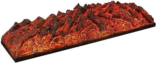 PULLEY-E Chimenea eléctrica, Simulación de carbón de leña Decoración Sala 3D Chimenea Decoración Armario Casa LED Simulación Carbón Pila 1200 × 350 × 285 mm E