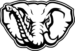 All About Families Alabama Football Elephant ~ V1 ~ Black ~ Window Sticker/CAR/Truck/RV/Boat with Alcohol PAD~ Size 9 X 6.13