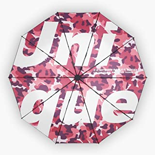 Umbrella Automatic Umbrellas Trends Sun Umbrellas Rain and Rain Umbrellas Folding Umbrellas Red, Pink, Yellow Optional HYBKY (Color : Pink)