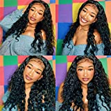Lace Front Wigs Human Hair Wigs with Baby Hair 100% Unprocessed 360 Deep Wave Virgin Hair wigs with Lace Frontal Wigs Pre Plucked Wet and Wavy Human Hair Wig 360 Deep Wave Lace Front Wigs(22 inch)