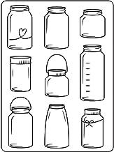 Darice embossing folder sjabloon, glazen Jars-10,8 x 14,6 cm, plastic, transparant, 10,8 x 14,6 x 0,11 cm