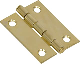 """Hillman Hardware Essentials 851732 Light Narrow Door Hinges and Fixed Pin Brass 2"""" -2 pack"""