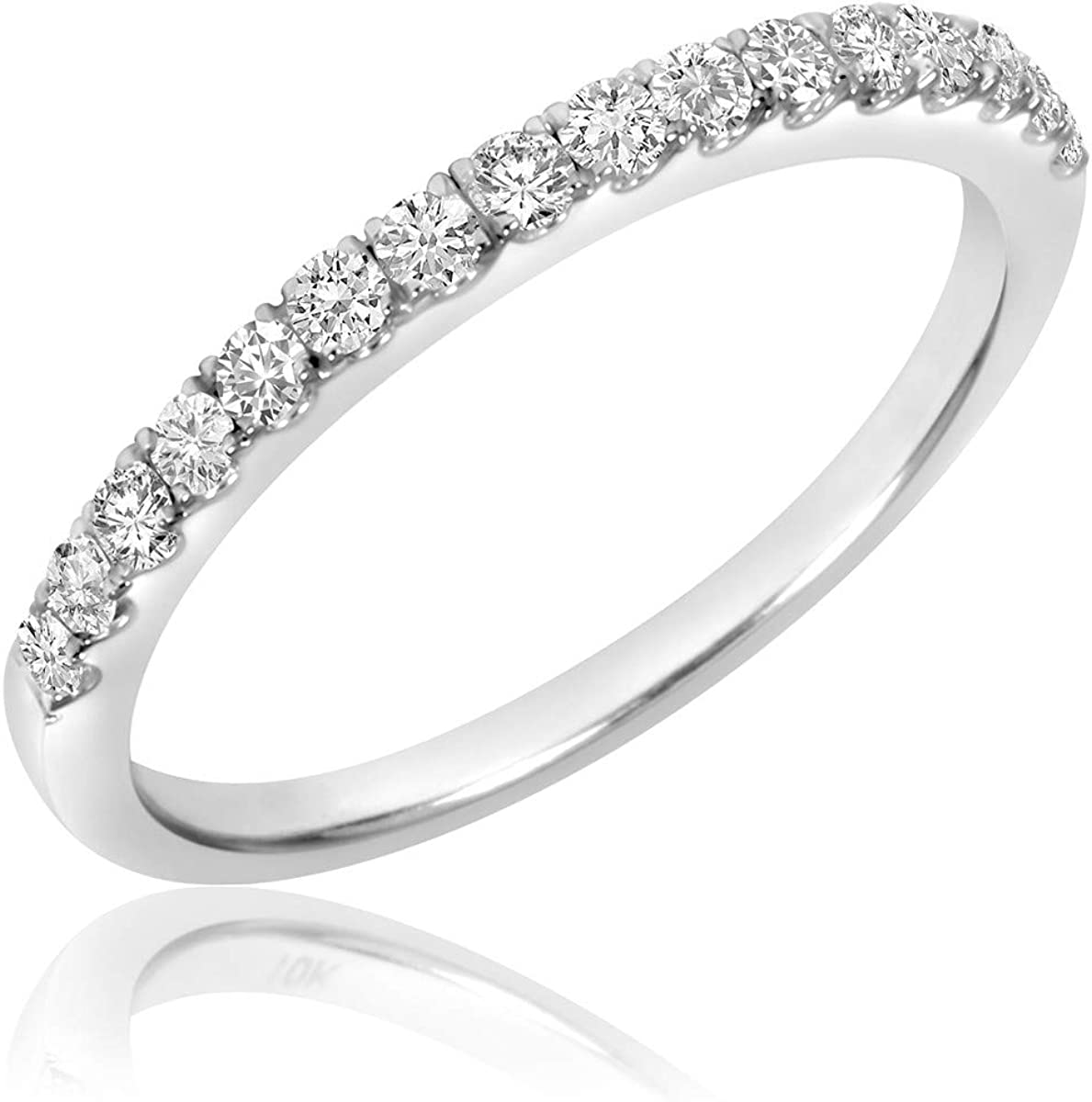 1.00 Carat (ctw) Diamond Engagement & Wedding Rings Set for Women Availalable in 10K Yellow & White Gold (Color: H, Clarity: I1-I2)