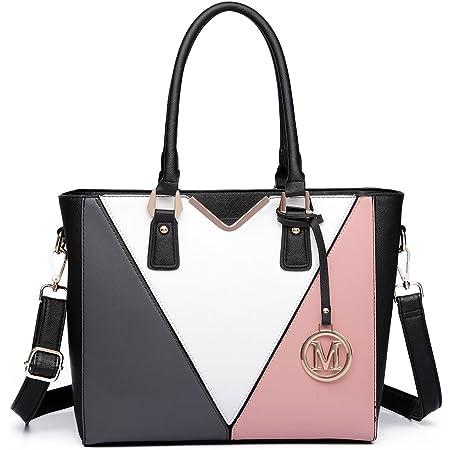 Miss Lulu Schultertasche Damen Handtasche V-förmiges Design (Nude)