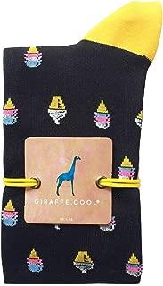Giraffe Cool Calcetín para Hombre de Color Negras Helado