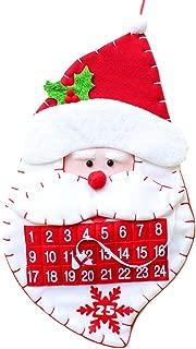 Libison Christmas Tree Decor, Christmas Advent Calendar & Pockets Felts Kids Wall Hanging Countdowns Decors, Christmas Tree Hanging Decoration Table Decor