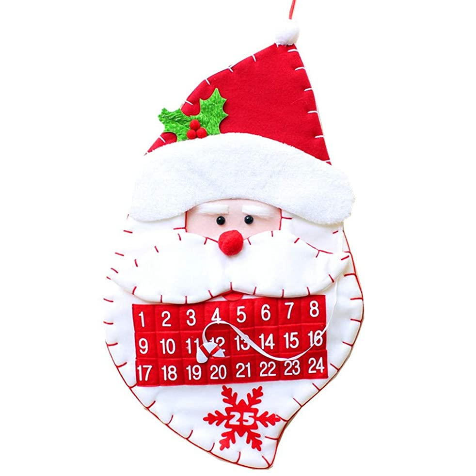 重量インストラクターに向かってBCDlily クリスマス アドベントカレンダー クリスマスツリー 雪だるま サンタオーナメント ドアウィンドウ 壁掛け カウントダウン装飾 L マルチカラー BCD-4dd1