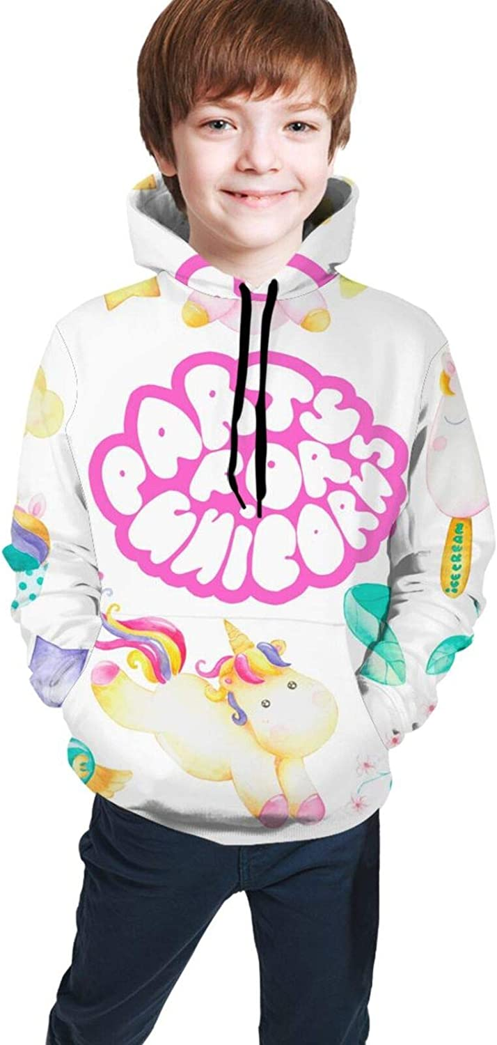 Pink Cute Unicorn Party Hoodies for Girls Kids discount Sweat Hooded Boys Max 54% OFF