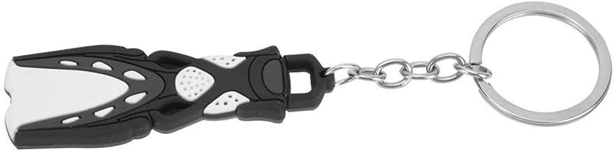 Korte Flipper Shape Duiken Thema-sleutelhanger, voor dagelijks gebruik Organiseert sleutels(red)