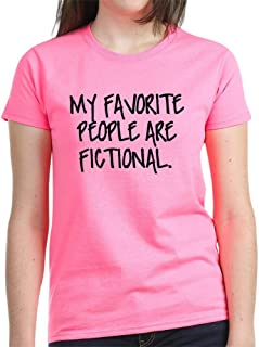 CafePress My Favorite People are Fictional T Cotton T-Shirt