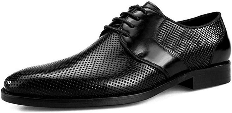 JUNBOSI Men's High-end Leather shoes Summer Comfort Walking shoes Hollow Breathable Leather Men's shoes Business Suits Cool Leather shoes Men's shoes Sandals (color   Black, Size   44)